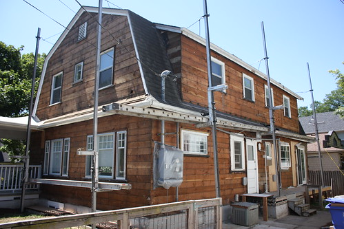 Duplex, siding/stucco removed