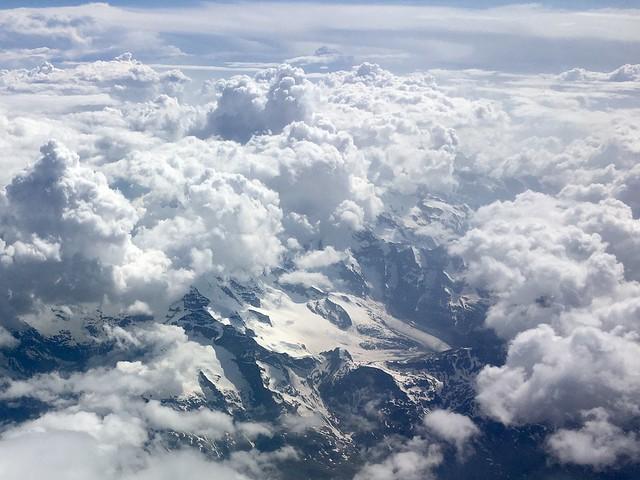 Berninagruppe mit Pers- und Morteratsch-Gletscher