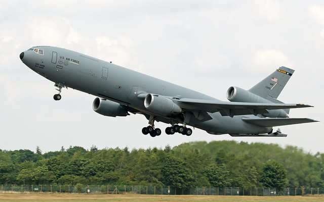 KC-10A Extender 87-0120 USAF, departing RAF Fairford, Gloucestershire.