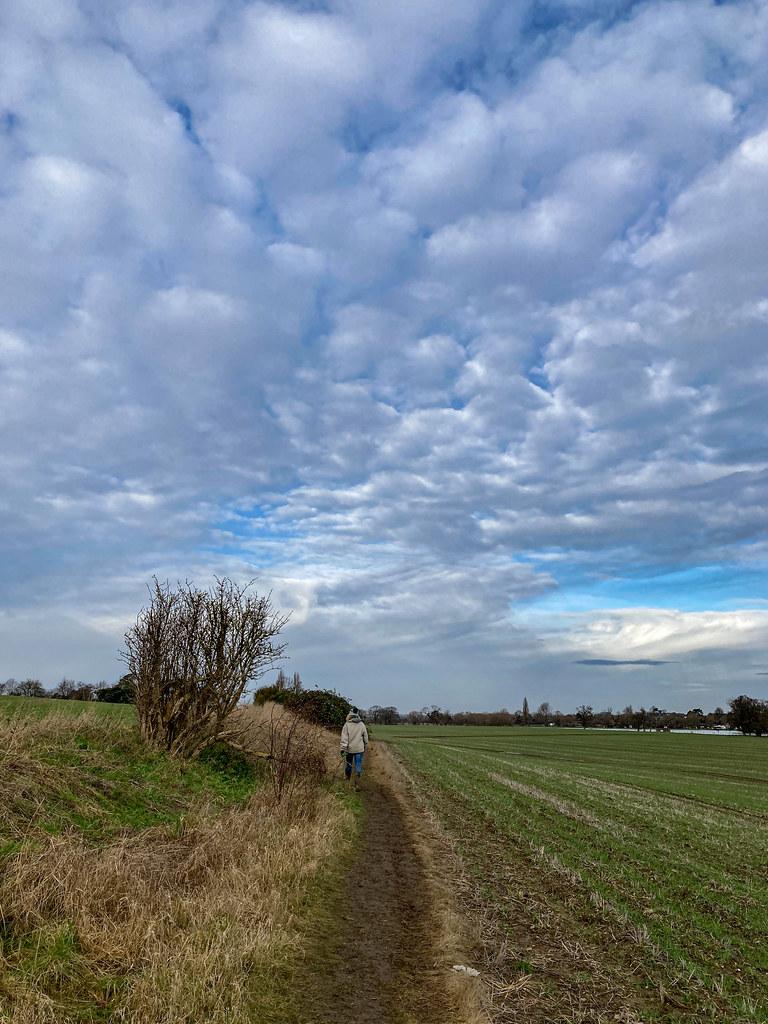 Big sky walking home
