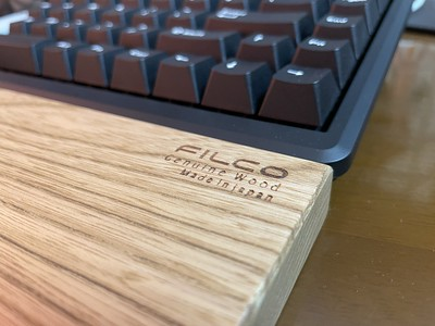 FILCO Genuine Wood Wrist Rest M size 分離型(2分割)