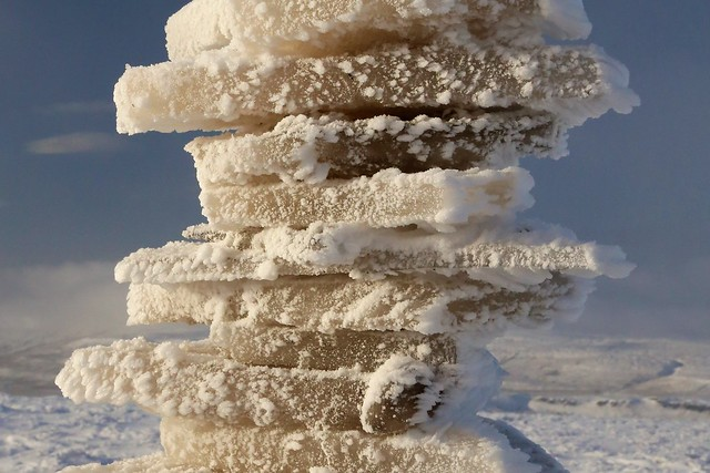 Ice sculpture on Buckden Pike