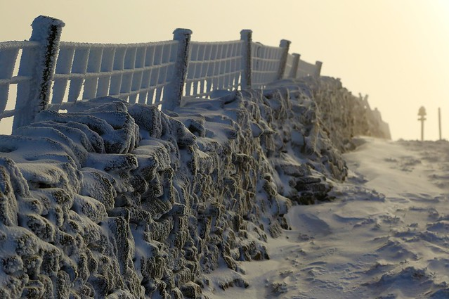 Ice and snow on Buckden Pike