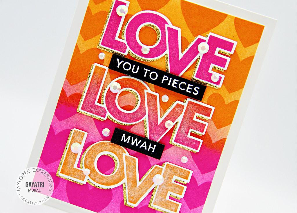 Card#2 Block love card closeup1