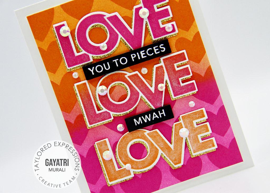 Card#2 Block love card closeup