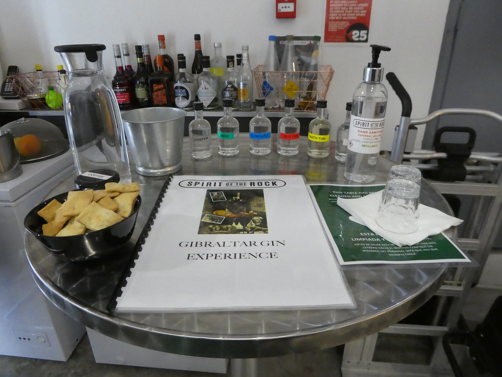 Tasting table, Spirit of the Rock, Gibraltar