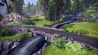 Exploring Zwift's pretty new sylvan cliffside road