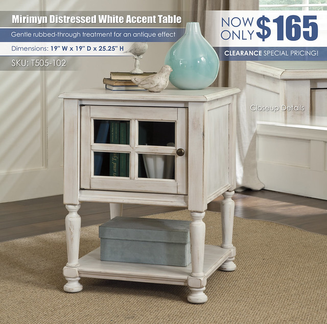 Mirimyn White Accent Table_T505-102