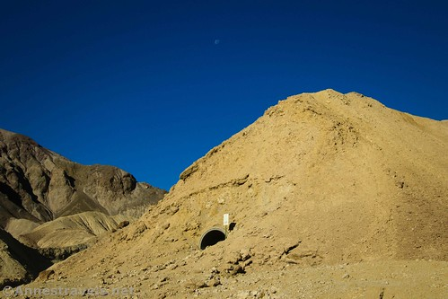 The borax mine under the hill, 20 Mule Team Canyon, Death Valley National Park, California
