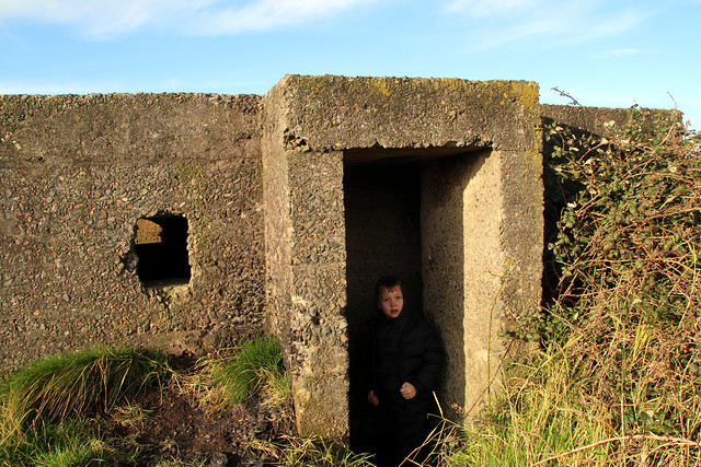 WW2 concrete Pillbox Walney Channel, Cumbria