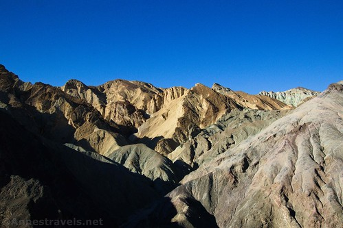 Looking into the colorful hills near 20 Mule Team Canyon, Death Valley National Park, California