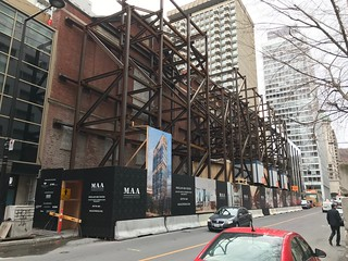 MAA contruction condo project - Peel st | by Vanishing Montréal