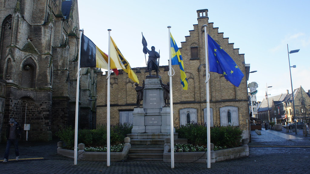 Poperinge y su plaza central