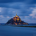Mont-Saint-Michel at dusk.