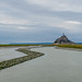 The tidal is coming in @ Mont-Saint-Michel.