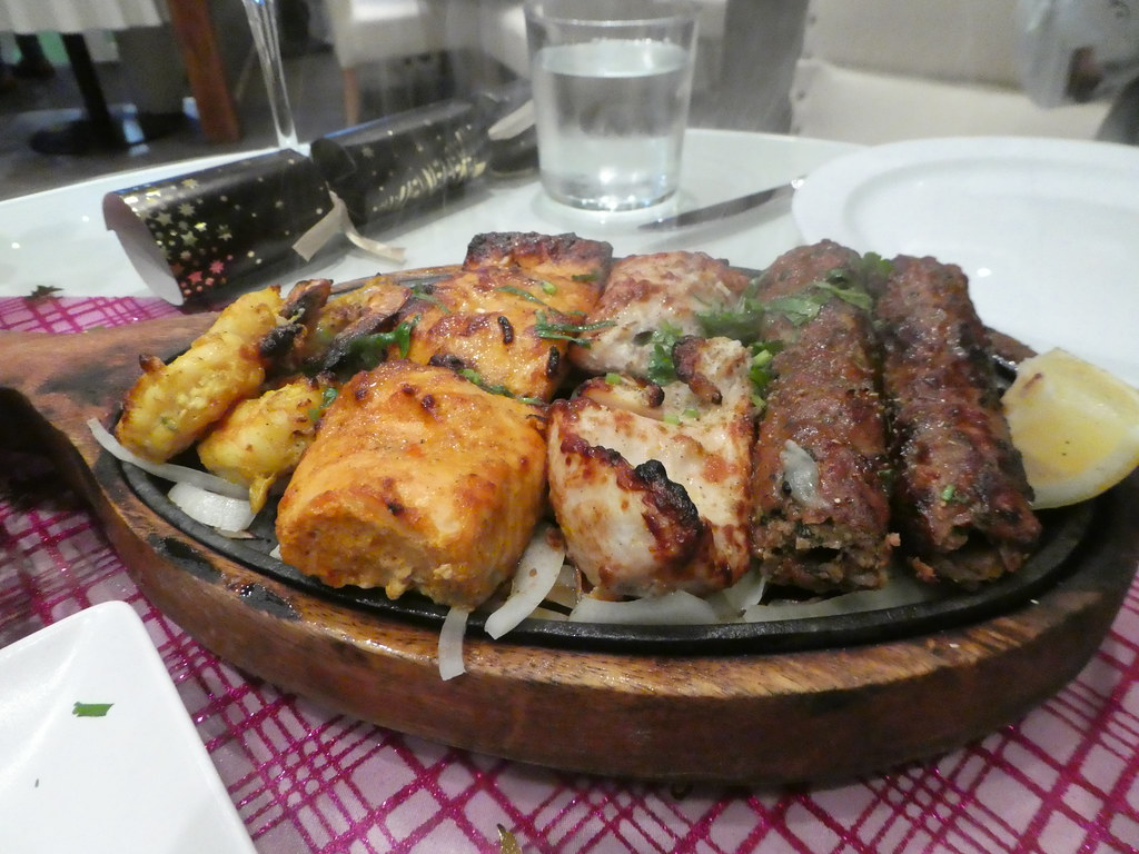 Sizzling meat and fish sharing platter, Little Bay Restaurant, Gibraltar