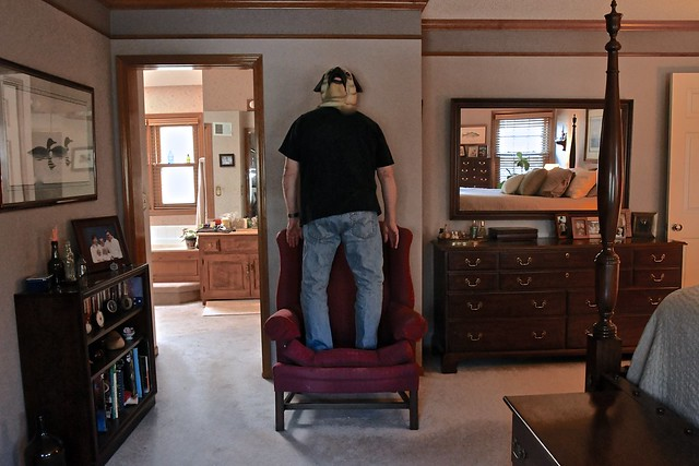 The Man Who Liked to Stand on a Chair in His Bedroom While Facing the Wall and Wearing a Bulldog Mask on Backwards