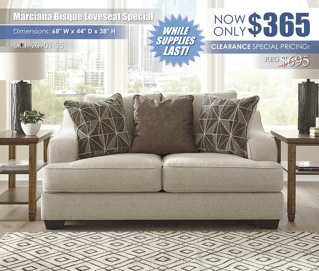 Marciana Bisque Loveseat Special_20901-35