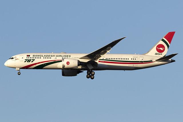 Biman Bangladesh Airlines 787-9 Dreamliner S2-AJX at Heathrow Airport LHR/EGLL