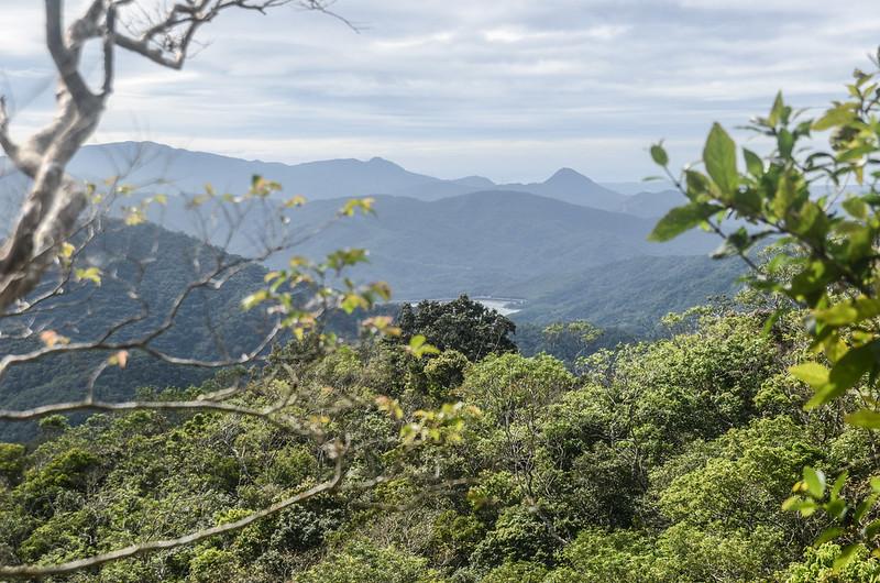 女仍山南稜線(H 633 m)南眺虎頭山、三台山、老佛山稜線 (3)