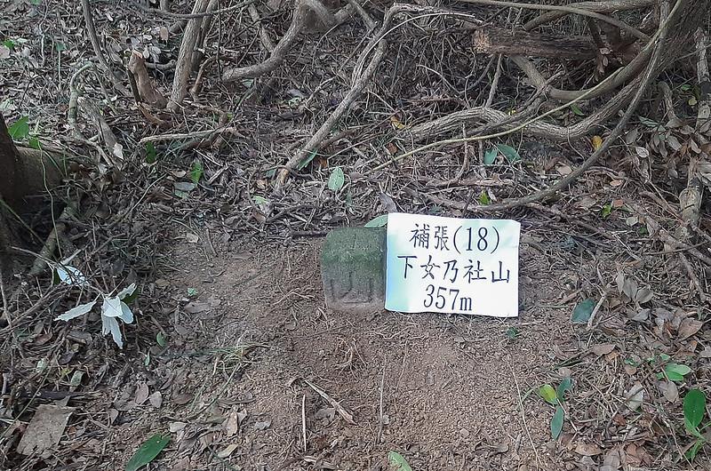 下女乃社山補張(18)山字森林三角點(Elev. 350 m) (2)