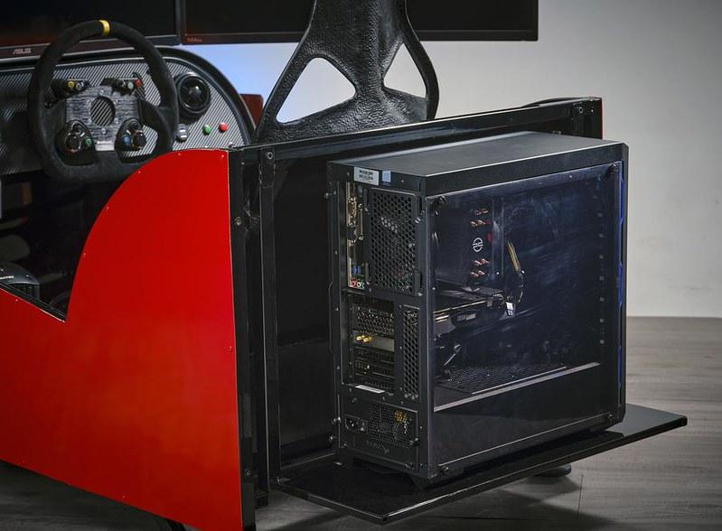 Sim Seven cockpit PC shelve