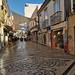 rua Santo Antonio calle comercial en centro historico de Faro Portugal 03