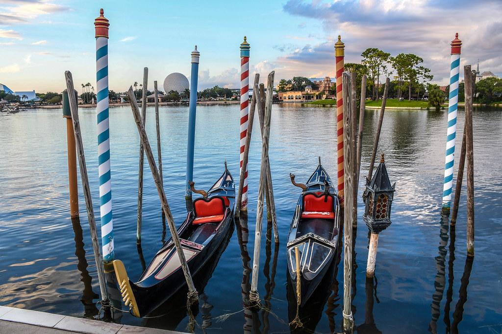 Epcot gondolas water Italy