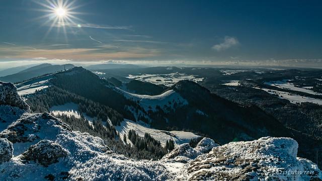 Vue hivernale du sommet du Chasseron (Switzerland)