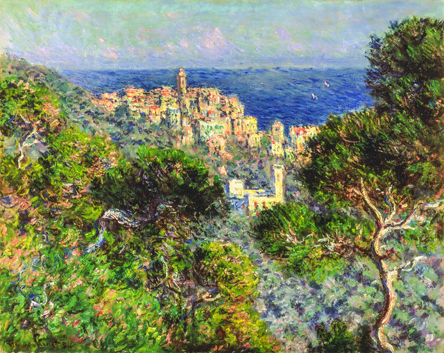 """View of Bordighera"" by Claude Monet (1884)."