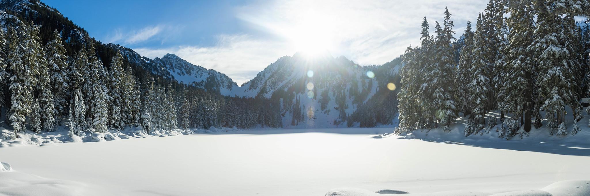 Glacier Lake panoramic view