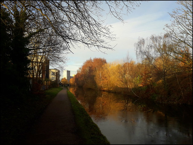 Winter at the Worcester and Birmingham Canal, Selly Oak, Birmingham