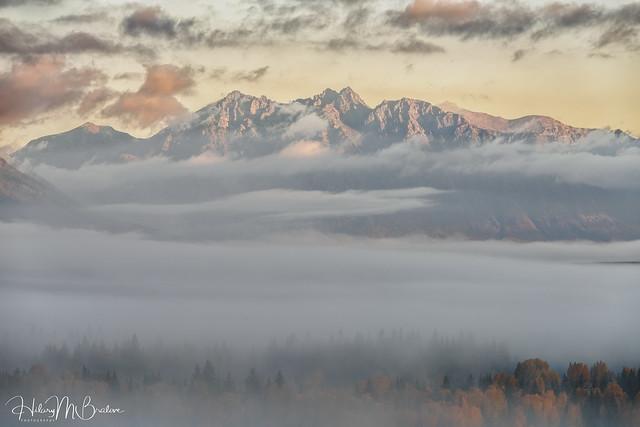 Early morning Teton fog