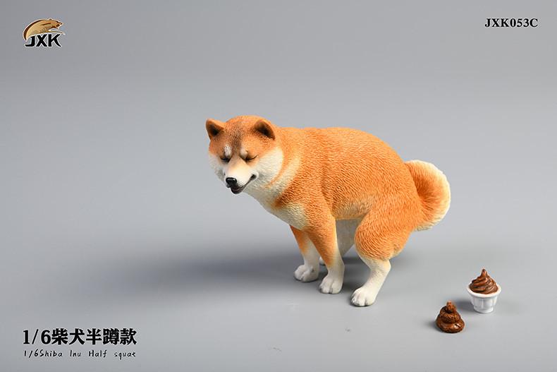 洋溢幸福的表情~JxK Studio 擬真動物系列 推出三款爆笑「柴犬半蹲」1/6比例塗裝完成品
