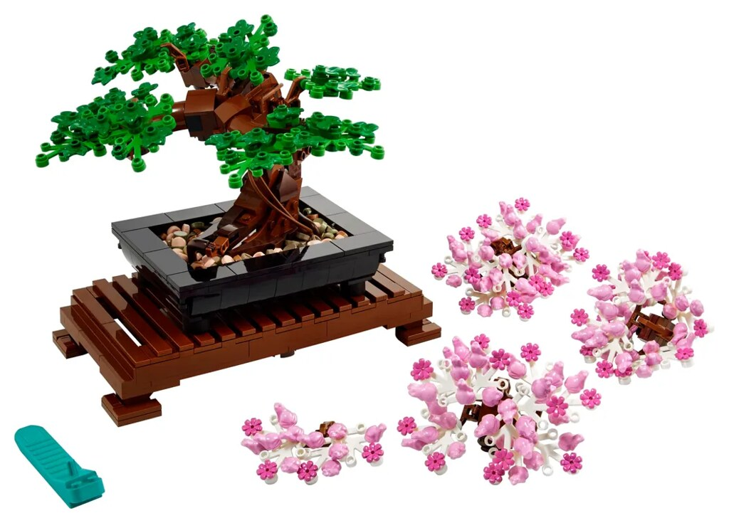 LEGO 10281 創意系列【盆景樹】Bonsai Tree 可在青綠松柏、盛開櫻花之間自由替換!