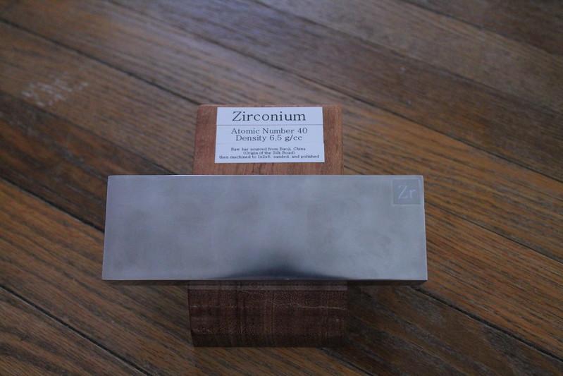 Zirconium bar and cherry stand