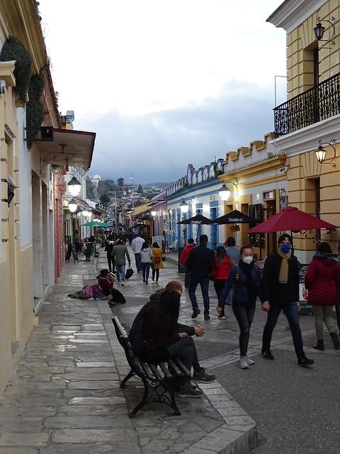 Street Scene at Dusk along Real de Guadalupe - San Cristobal de las Casas - Chiapas - Mexico - 02