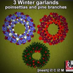 3 Winter Garlands