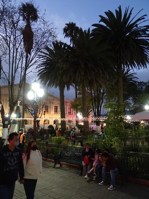 Plaza Scene at Dusk - Centro Historico - San Cristobal de las Casas - Chiapas - Mexico