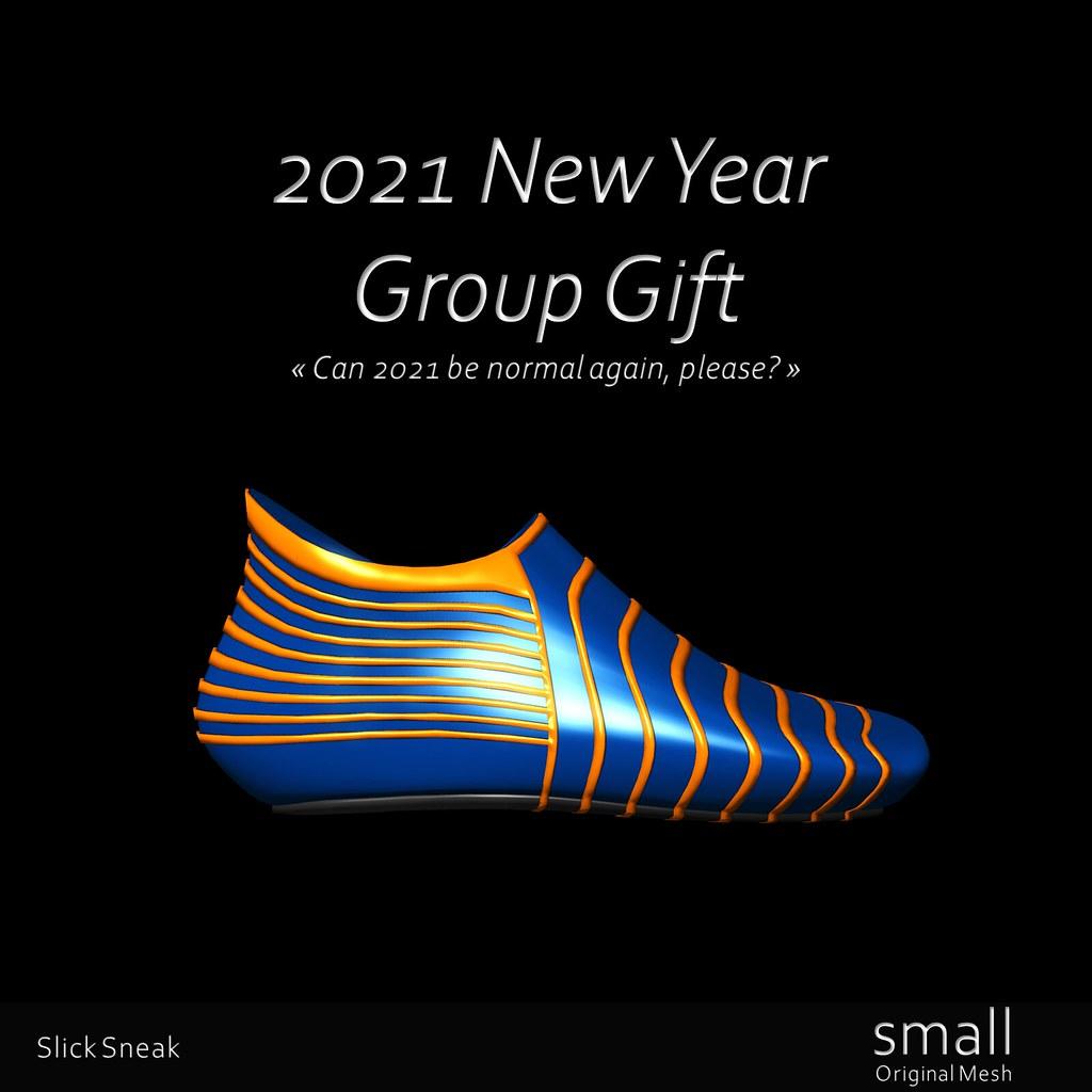 2021 New Year Group Gift, Slick Sneak Blue