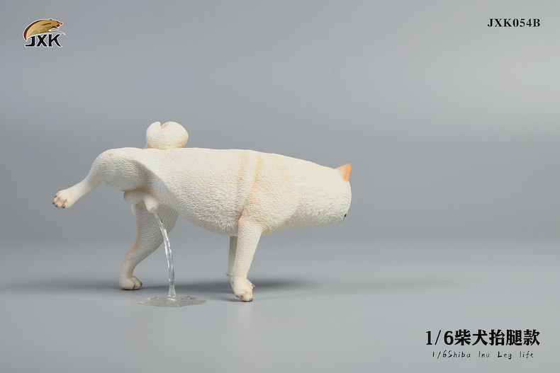 超萌賊笑~JxK Studio 擬真動物系列 推出三款正在尿尿的「柴犬抬腿款」1/6比例塗裝完成品