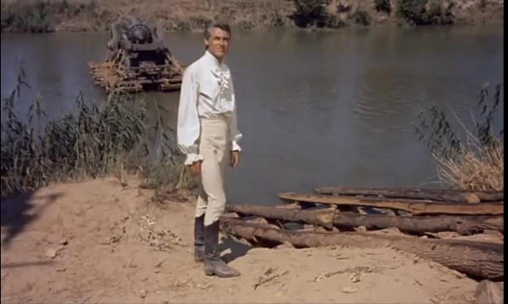 Cary Grant junto al Tajo. Fotograma de Orgullo y Pasión (rodada en 1956)