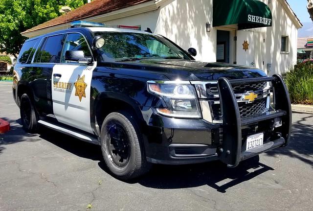 Santa Barbara County Sheriff Chevy Tahoe at Goleta Substation