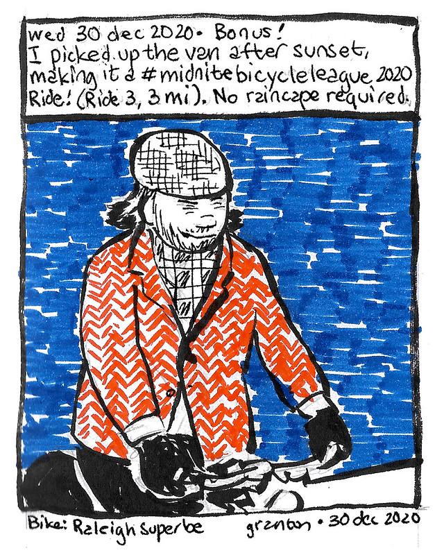 Journal Comic, 30 Dec 2020. Part 2, #midnitebicycleleague2020 Ride 3