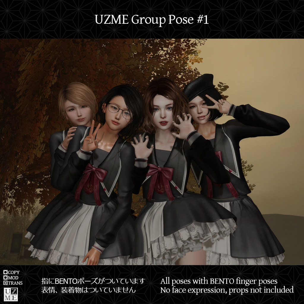 Poses for group
