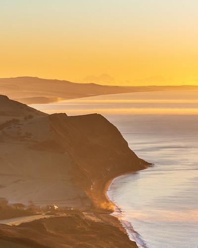 sunrise dorset sonya7rii jurassiccoast mist light rural coast sea ocean