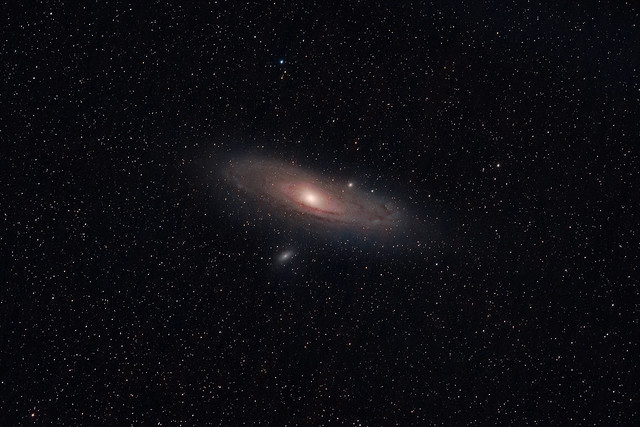 Andromeda 5x larger in the night sky than the moon