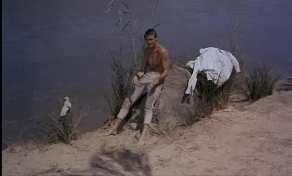 Cary Grant en el Tajo. Fotograma de Orgullo y Pasión.