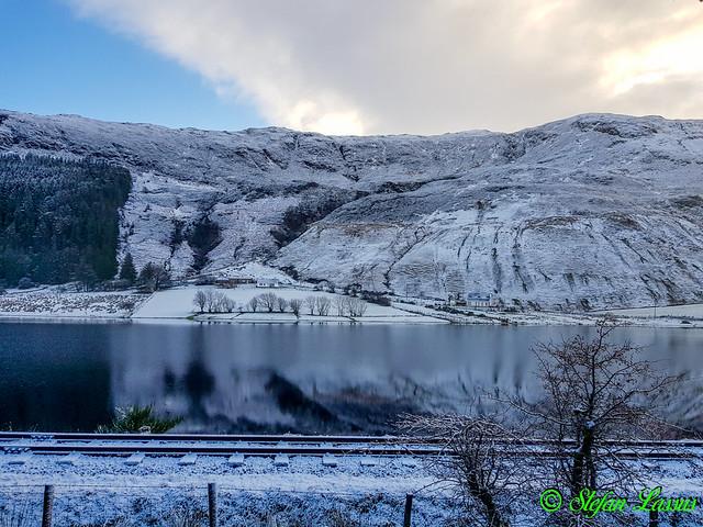 Lough Finn in white December clothes