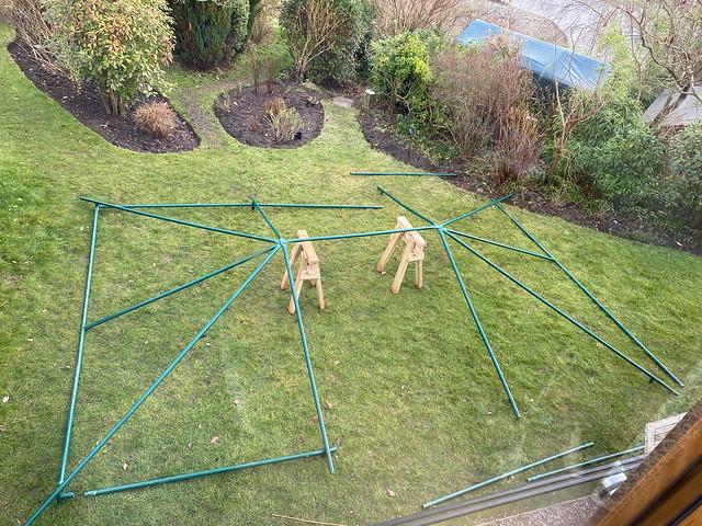 Repairing the tent frame